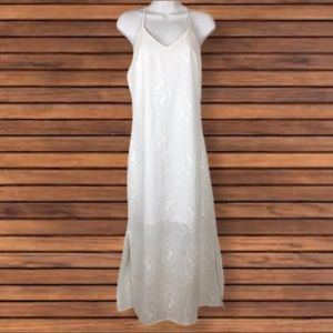 Available by Angela Fashion White Maxi Dress